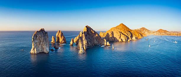 Panoramic Aerial View of Cabo San Lucas in Baja California Sur, Mexico.