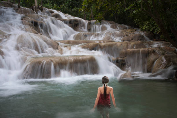 Jamaica's world famous Dunns River Falls