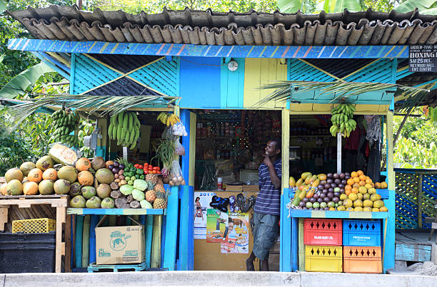 Local Fruit Stand in Ocho Rios, Jamaica
