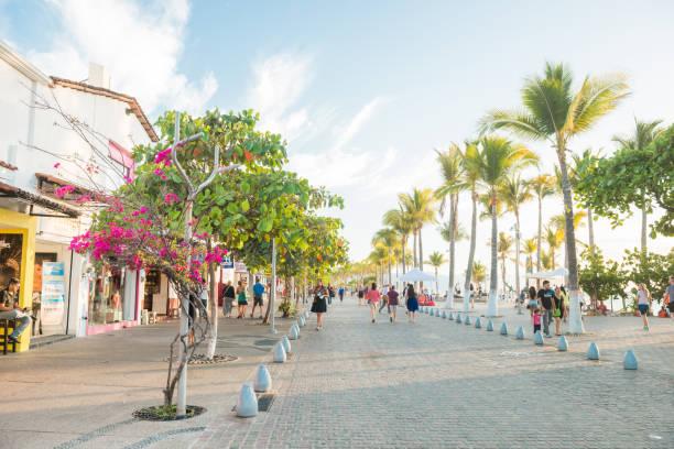 Puerto Vallarta, Mexico of the malecon boardwalk