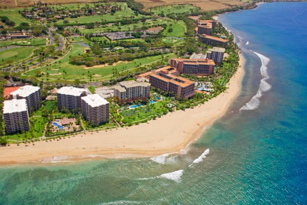 Hotels along Kaanapali Beach near Kaanapali Golf Course