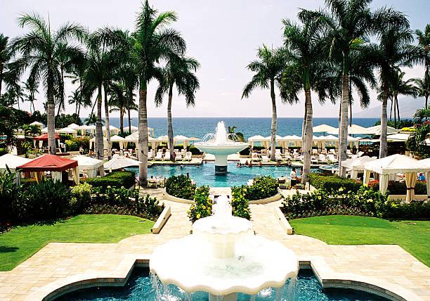 Maui Hawaii palm tree Pacific ocean resort hotel beach scenic