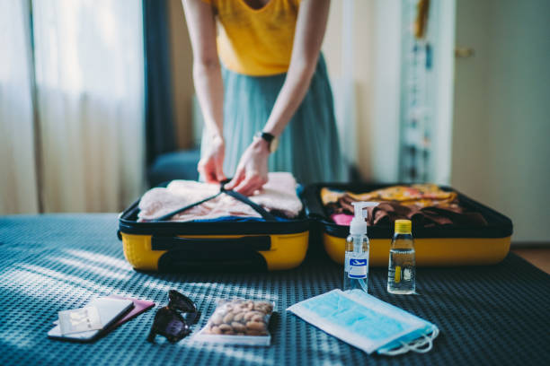 Travel suitcase packing,